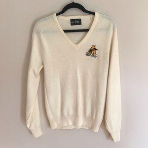 Vintage West Point Long Sleeve V-Neck Sweater